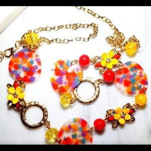 Candy Long Confetti Necklace. NWOT